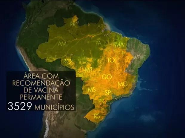 febre amarela recomendada (Foto: bom dia brasil )
