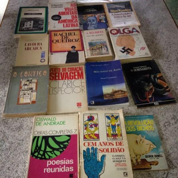 Algumas das obras encontradas no lixão por Dorival (Foto: Arquivo pessoal)