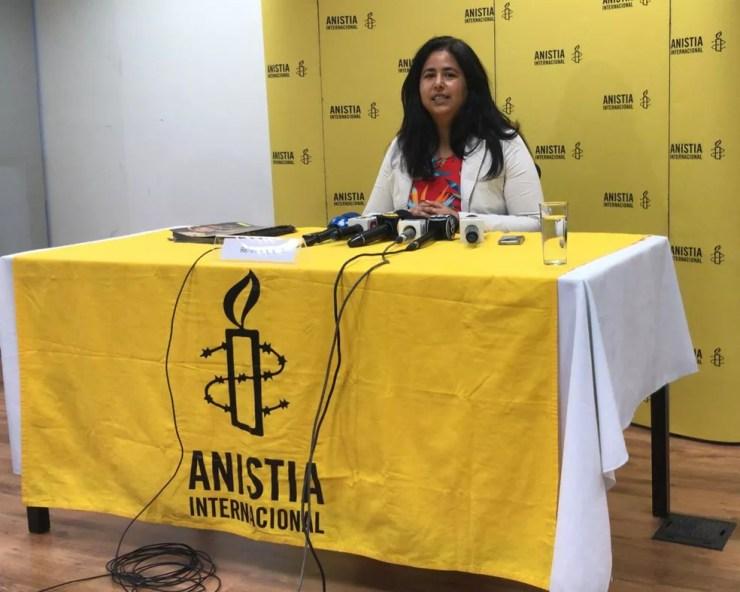 Renata Neder, coordenadora de pesquisa da Anistia Internacional — Foto: Henrique Coelho / G1