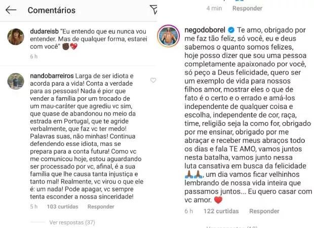 Pai de Duda Reis critica relação dela com Nego do Borel; cantor faz declaração para a atriz e manda indireta ao sogro (Foto: Reprodução/Instagram)