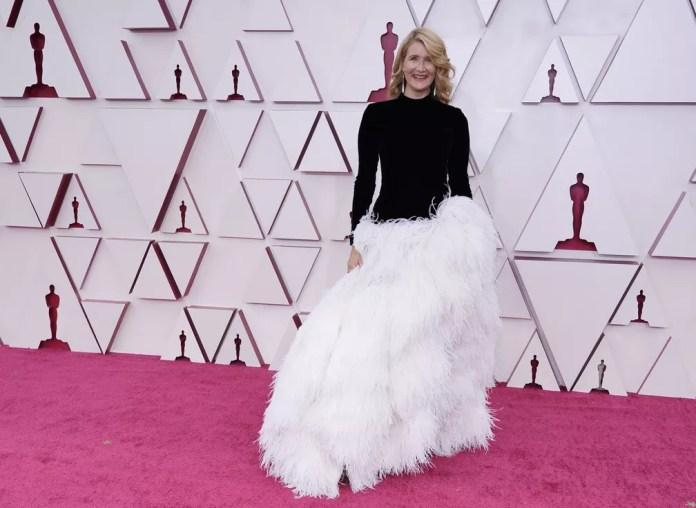 Laura Dern no Oscar 2021 — Foto: AP Photo/Chris Pizzello
