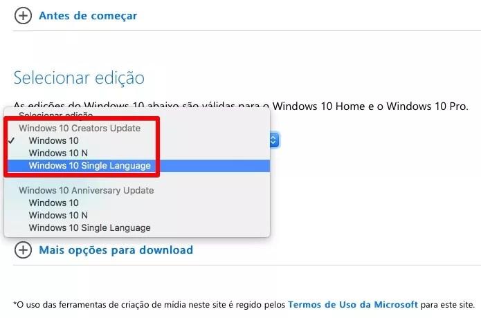 Baixando o Windows 10 Creators Update (Foto: Reprodução/Helito Bijora)