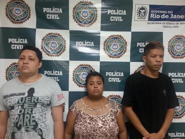 Trio aplicou o golpe do falso sequestro (Foto: Divulgação/ Polícia Civil)