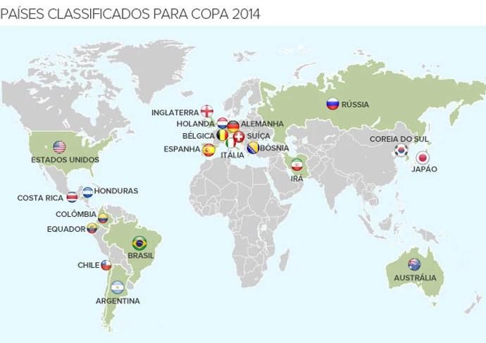 info paises classificados copa 2014 Honduras - 690 (Foto: Editoria de Arte / Globoesporte.com)