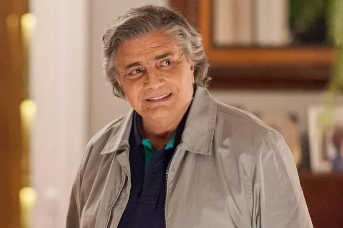 Tarcísio Meira é Fausto em 'A Lei do Amor' (Foto: Artur Meninea/TV Globo)
