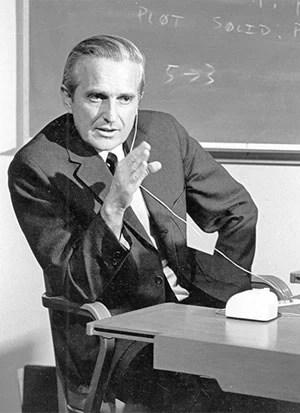 Douglas Engelbart, pai do mouse e avô do ambiente gráfico. (Foto: Divulgação/Douglas Engelbart Institute)