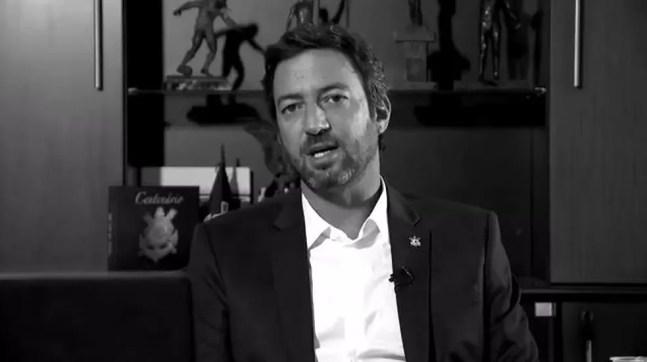Duilio Monteiro Alves, presidente do Corinthians, em entrevista ao ge — Foto: ge