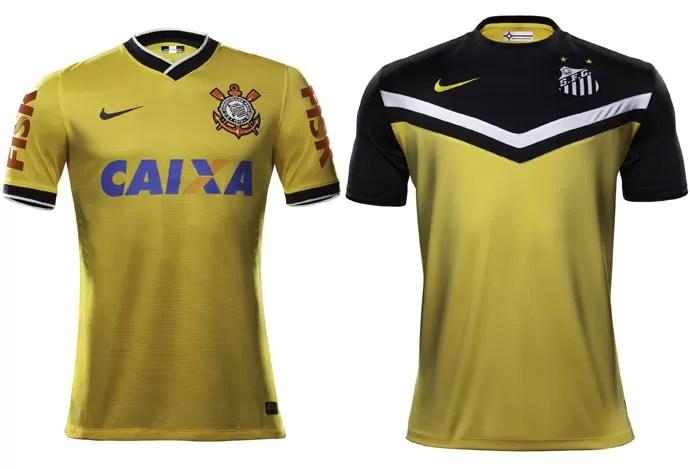 corinthians santos novas camisas (Foto: Divulgação  )