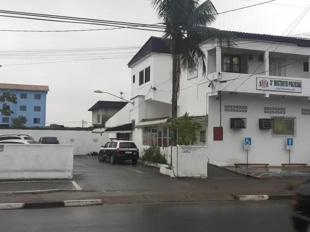 3º Distrito Policial de São Vicente, no Jardim Rio Branco (Foto: Claudinei Caldas/Arquivo Pessoal)