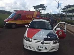 Crime aconteceu perto de uma escola em Lins  (Foto: Divulgação/ J. Serafim)