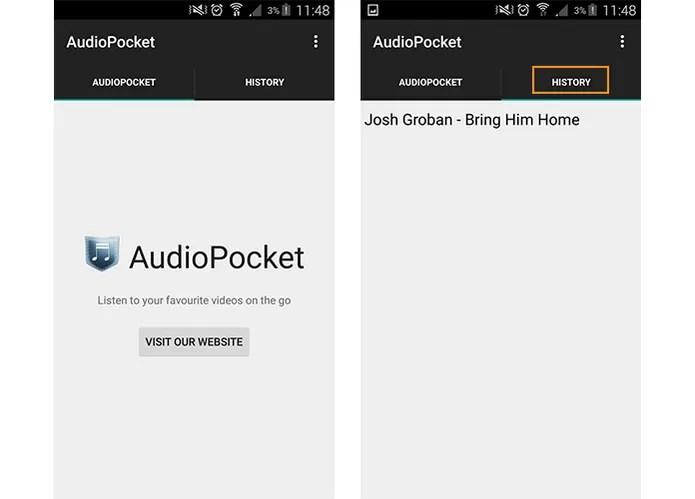 Baixe e instale o aplicativo AudioPocket no seu celular (Foto: Reprodução/Barbara Mannara)