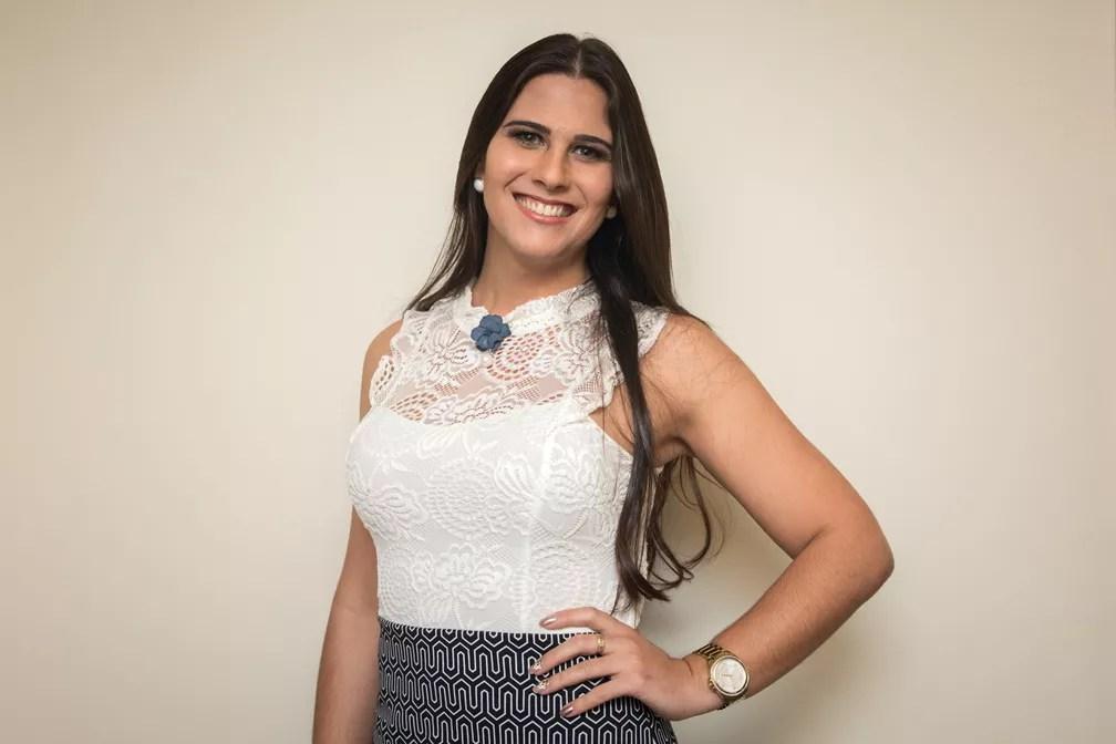 Jaqueline Denardin, de 24 anos, é professora e representa o Paraná (Foto: Celso Tavares/G1)