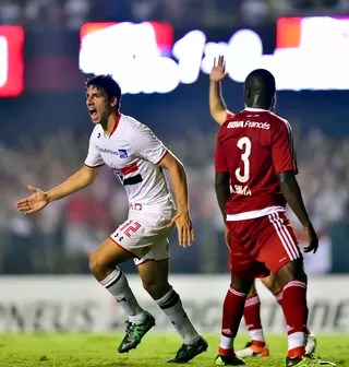 São Paulo x River Plate Calleri (Foto: Marcos Ribolli)