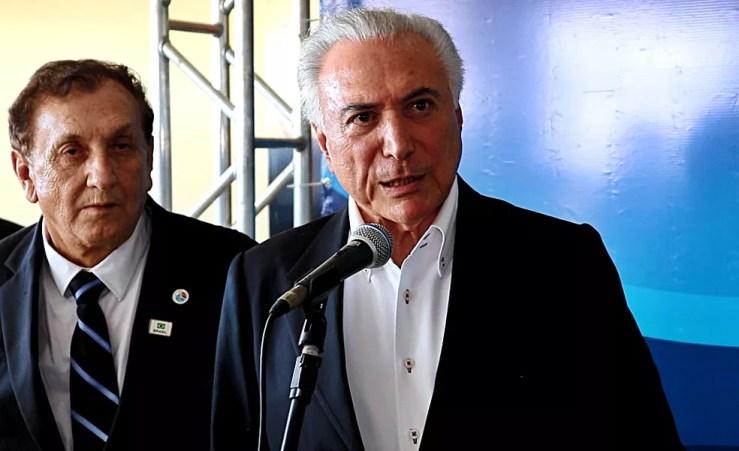 Michel Temer falou sobre geração de empregos com assinatura de obra no Piauí (Foto: Kairo Amaral/G1 PI)