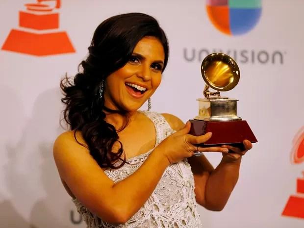 Aline Barros na 15ª edição do Grammy Latino em Las Vegas, nos Estados Unidos (Foto: Mike Blake/ Reuters)
