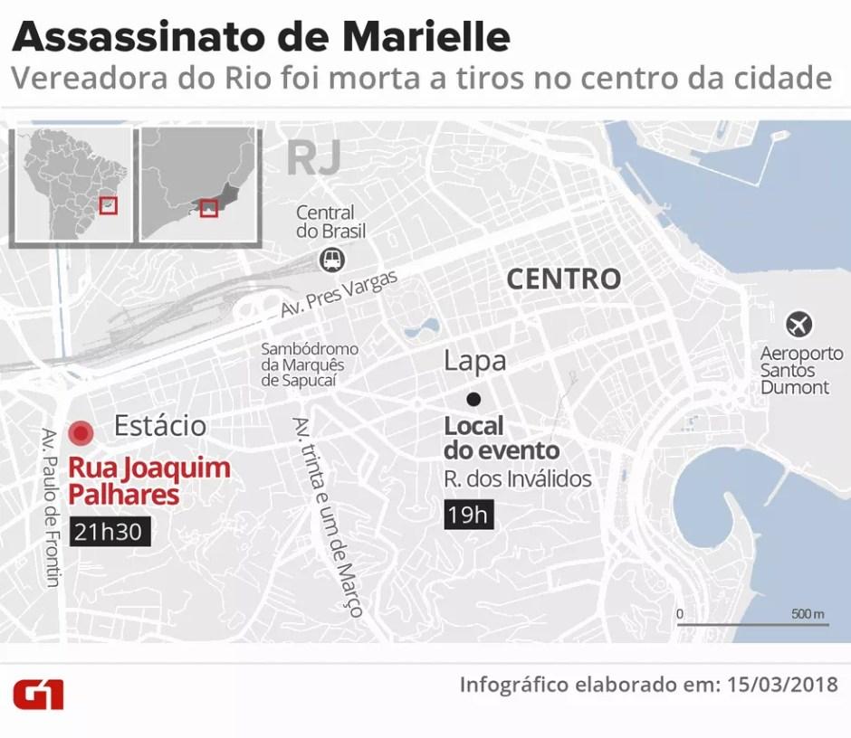 Vereadora foi morta a tiros no Estácio (Foto: G1 Rio)