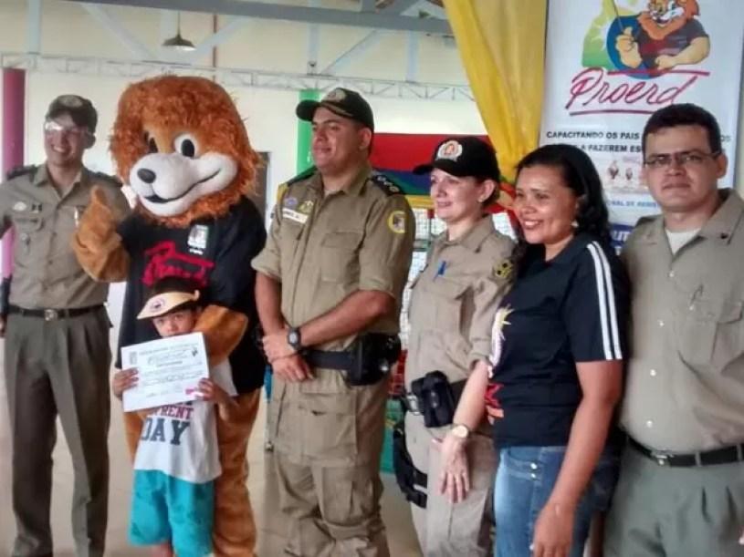 Proerd já  já atendeu 313.760 crianças e adolescentes no Tocantins, segundo a PM (Foto: Divulgação/PM TO)