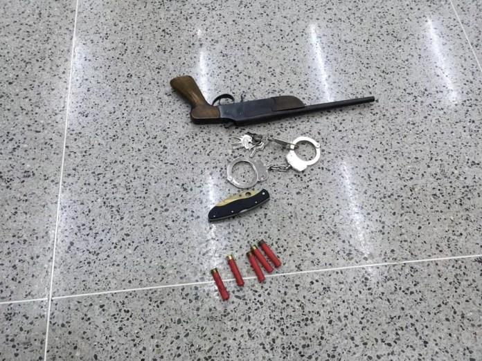 Arma usada por assassino durante ataque a fiéis em igreja em Paracatu — Foto: Ailton Pinheiro / Arquivo pessoal