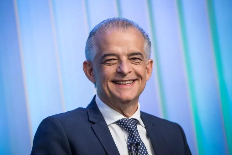 Márcio França, candidato do PSB ao Governo de SP, durante debate no estúdio da Globo em São Paulo — Foto: Celso Tavares/G1