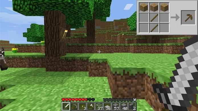 Consiga madeira para criar sua primeira picareta (Foto: androidhryaplikacie.sk)
