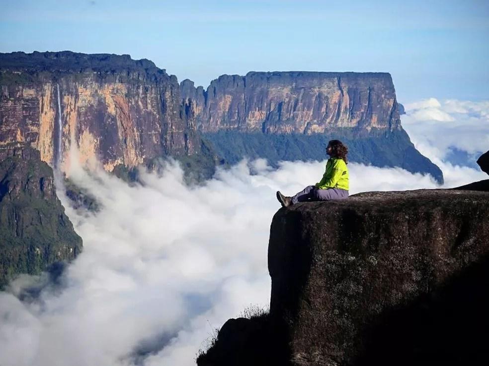 Monte Roraima: Maria Fernanda encontra o seu caminho na vida (Foto: Arquivo Pessoal)