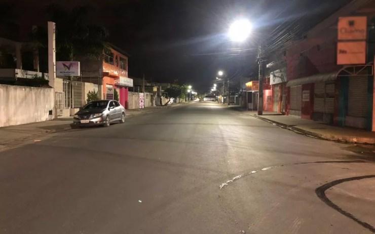 Toque de recolher é mantido das 21h às 6h em Rondônia.  — Foto: Bruna Evangelho/TV Subaé