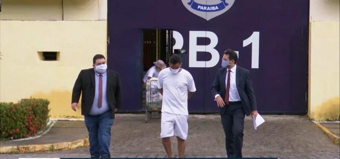 Eridan foi solto nesta sexta-feira (31), em João Pessoa — Foto: Reprodução/TV Cabo Branco