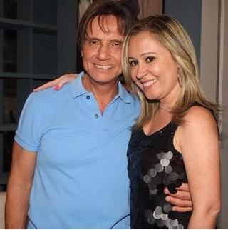 Roberto Carlos e a namorada, Luciana Sobreira (Foto: Instagram / Reprodução)