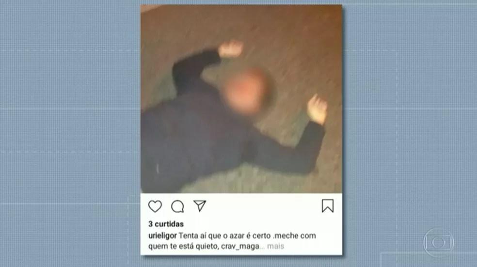 foto-e-mensagem Lutador é preso acusado de matar homem na Tijuca, Rio, e postar foto da vítima em rede social