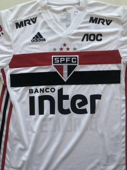 Camisa do São Paulo com novo patrocinador — Foto: Divulgação