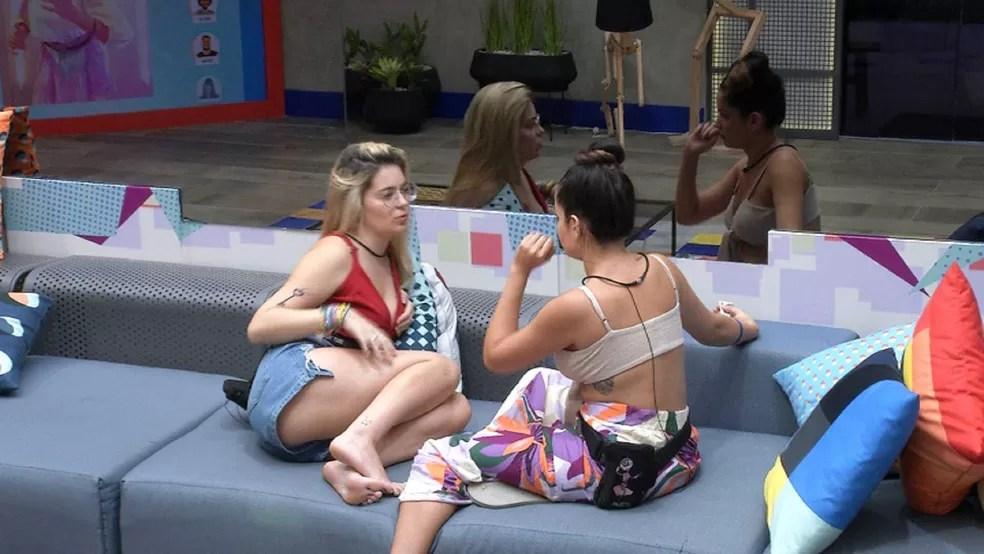 Viih Tube questiona Juliette sobre relação com sister do BBB21: 'Estou sendo trouxa?'  — Foto: Globo