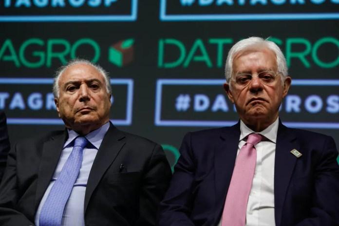 Michel Temer e Moreira Franco em foto de outubro do ano passado — Foto: Isac Nóbrega/Arquivo Presidência da República