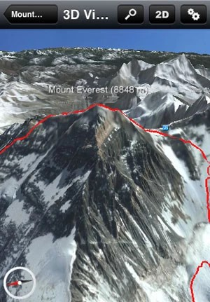 Aplicativo mostra imagens em 3D do Monte Everest (Foto: Reprodução)