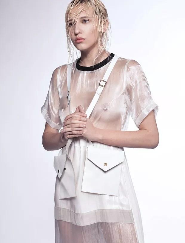 Vestido Heloisa Faria, R$ 899. Bolsa Aila Cortes à venda na Heloisa Faria, R$ 180 (Foto: Murilo Yamananaka) (Foto: Murilo Yamananaka)