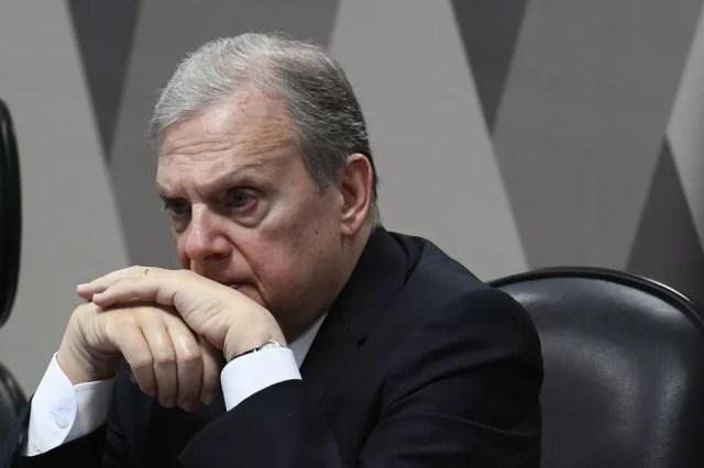 O relator da reforma, senador Tasso Jereissati (PSDB-CE), durante a sessão da Comissão de Constituição e Justiça nesta terça-feira (1º) — Foto: Geraldo Magela/Agência Senado