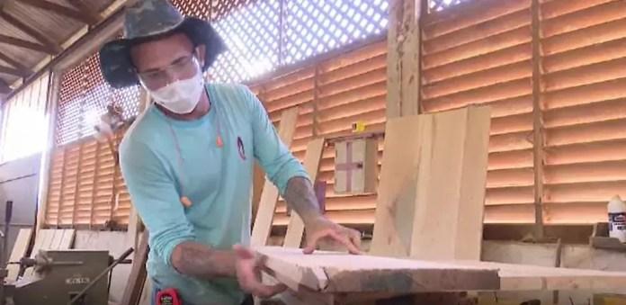 Presos dizem que sonham em mudar de vida  — Foto: Reprodução/Rede Amazônica Acre