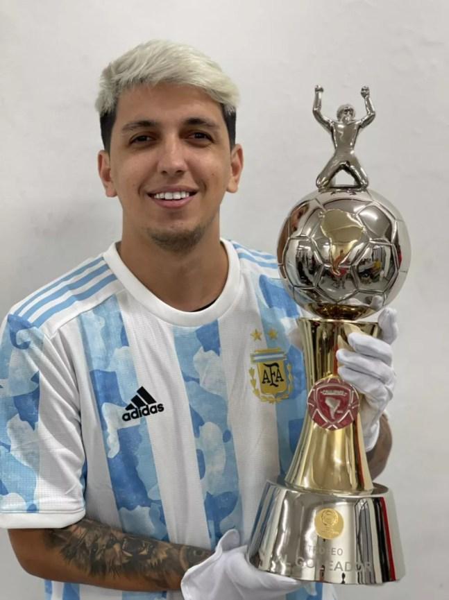 Rezino no vestiário da Argentina no Maracanã — Foto: Arquivo pessoal