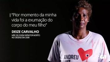 Deize Carvalho: mãe de Andreu Luiz Carvalho,  jovem infrator morto no Degase em 2008 — Foto: Marcos Serra Lima