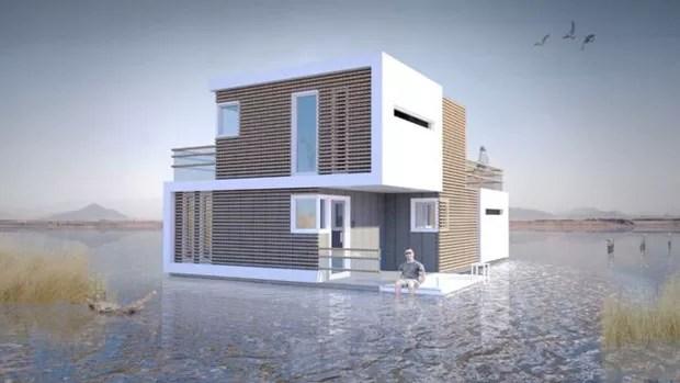 """A """"casa"""" pré-nupcial conta também com uma versão flutuante (Foto: Estudio OBA)"""