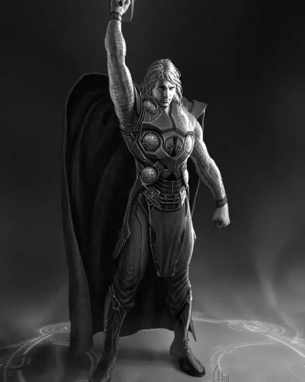 Arte conceitual para o filme Thor, de 2011 (Foto: reprodução Instagram)