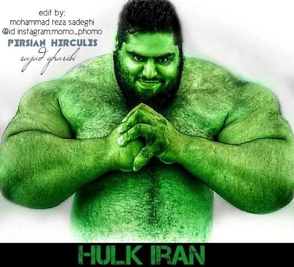 Sajad também é comparado ao Hulk