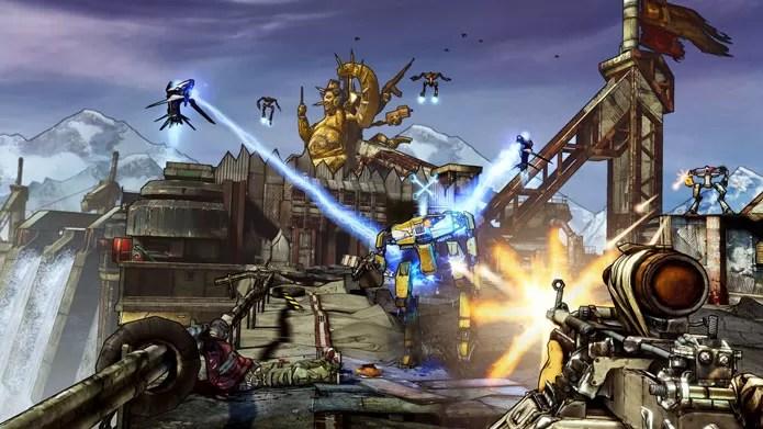 Borderlands 2 mescla elementos de FPS com RPG e uma boa dose de humor (Foto: Divulgação/Nuuvem)