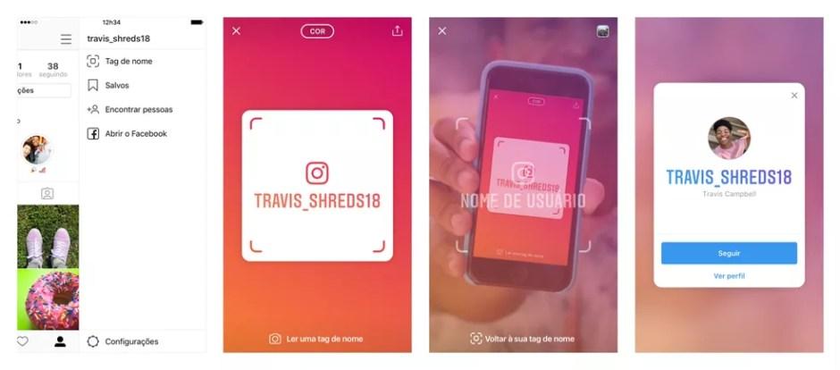 Nametag já vinha sendo testada nos Estados Unidos, antes do lançamento mundial — Foto: Divulgação/ Instagram