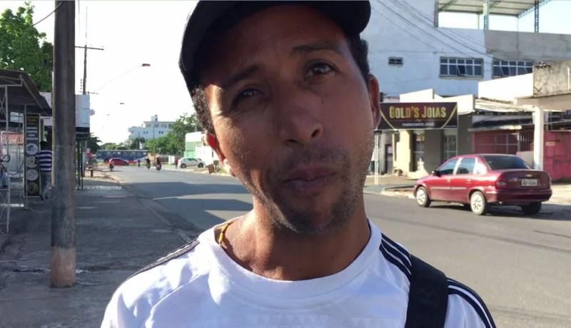 Richard Guerrero, 33, vivia em Santa Elena de Uairén e está há dois meses no Brasil — Foto: Emily Costa/G1 RR