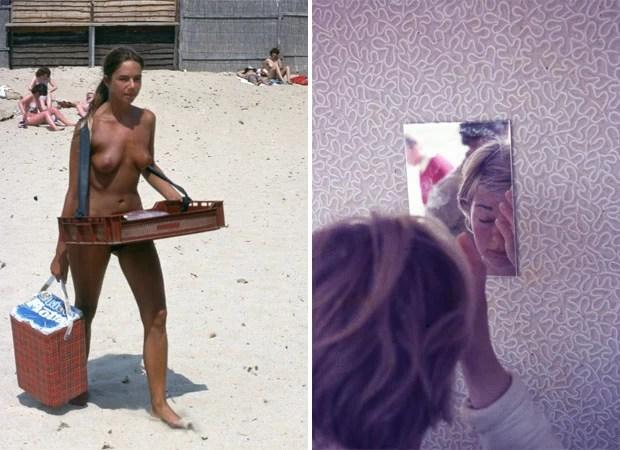 Imagem de mulher nua na praia e outra em frente ao espelho compõe a série de Sandy Carson (Foto: Sandy Carson)