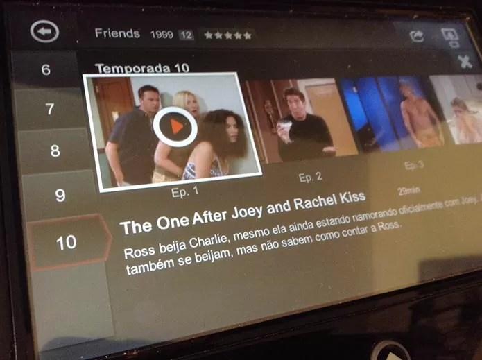 Assista os episódios e configure audio e legendas (Foto: Reprodução/Murilo Molina)