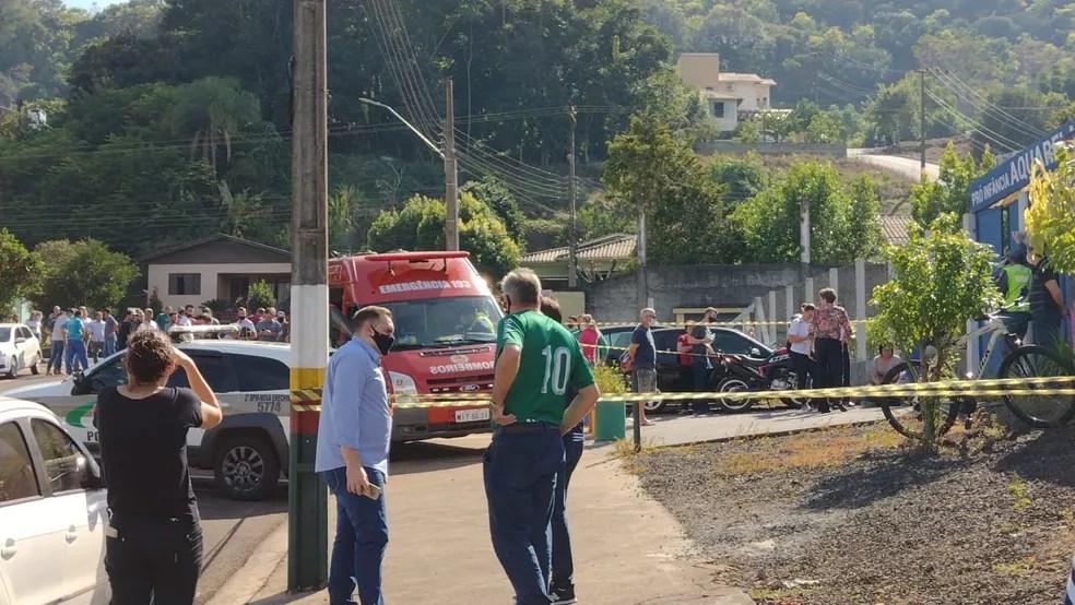 Jovem invade escola e mata crianças no Oeste de SC — Foto: Reprodução/Redes Sociais