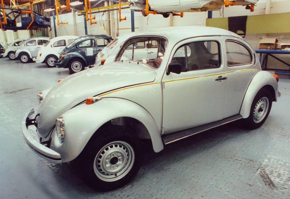 Última versão do Fusca, produzida entre 1993 e 1996 — Foto: Arquivo/Conteúdo Estadão