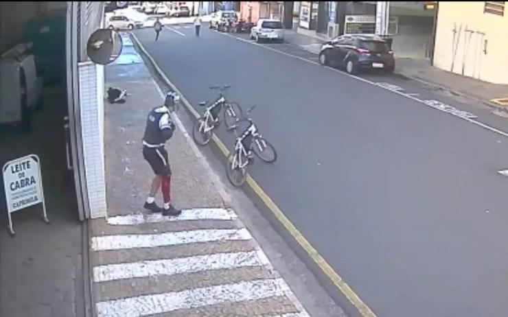 Tiroteio foi no Centro de Rio Preto (Foto: Reprodução)