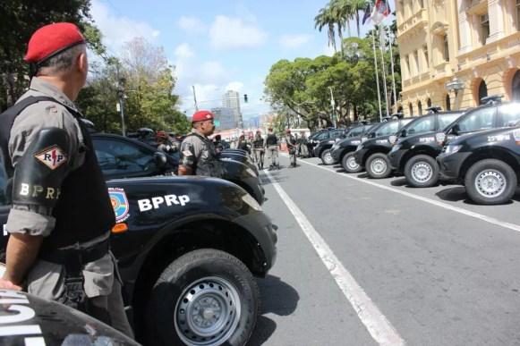 Investimento em pessoal e equipamentos é uma das causas para queda na violência em Pernambuco, aponta secretário — Foto: Bruno Lafaiete/TV Globo